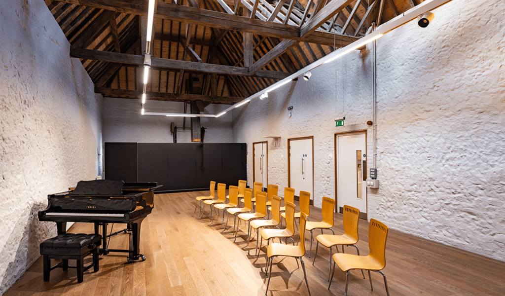The Kiln Room Piano and Chairs